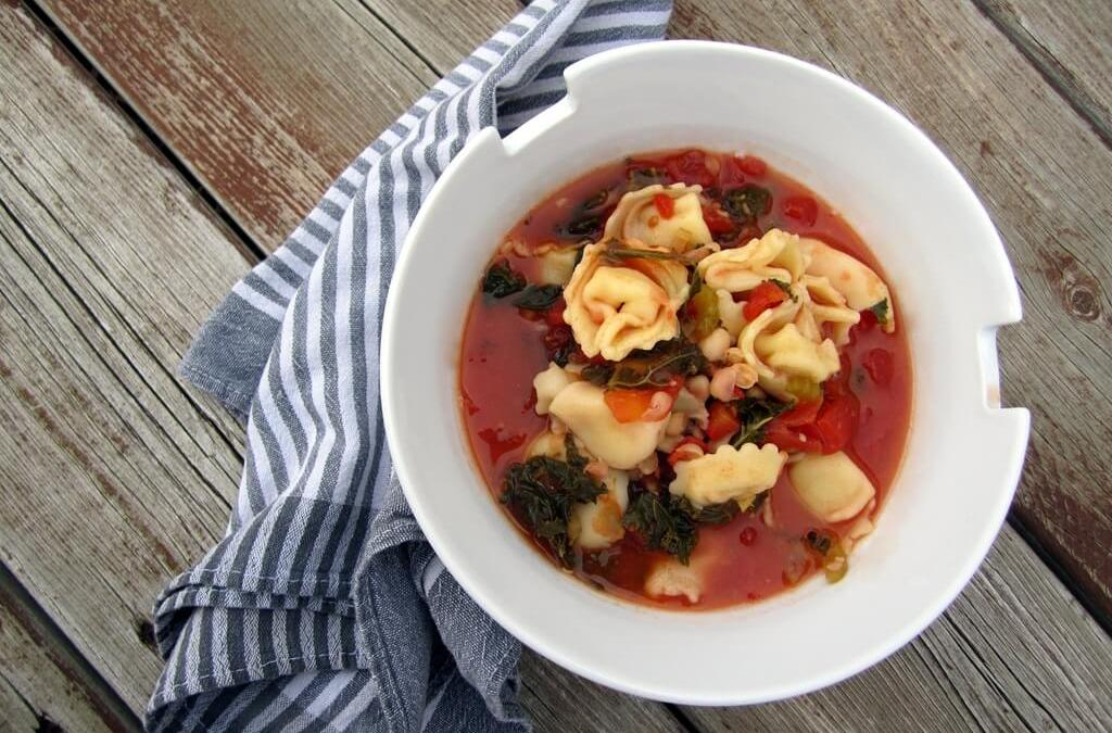 Easy Tortellini and White Bean Soup
