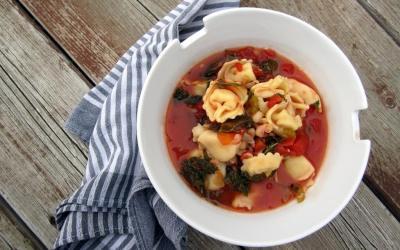 Easy Tortellini and White Bean Soup