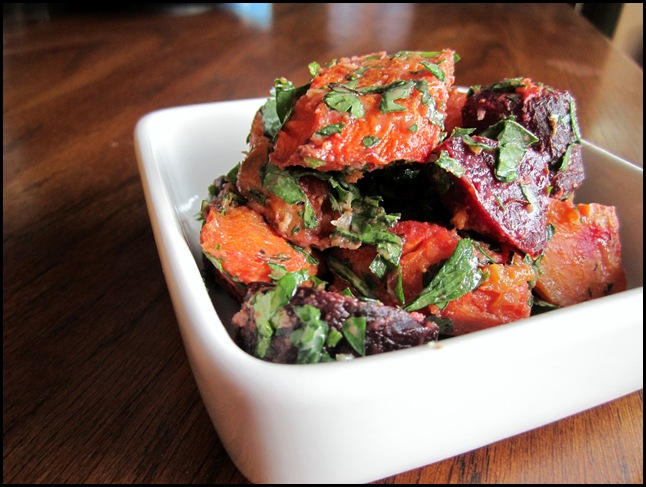 roasted beet and carrot salad - www.infinebalance.com