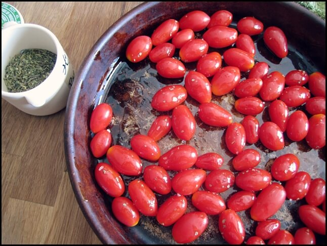 Slow Roasted Cherry Tomatoes