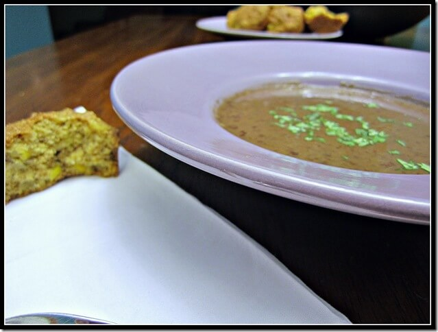 """Slow-Cooker Chipotle Black Bean Soup (a """"I painted the kitchen post"""")"""