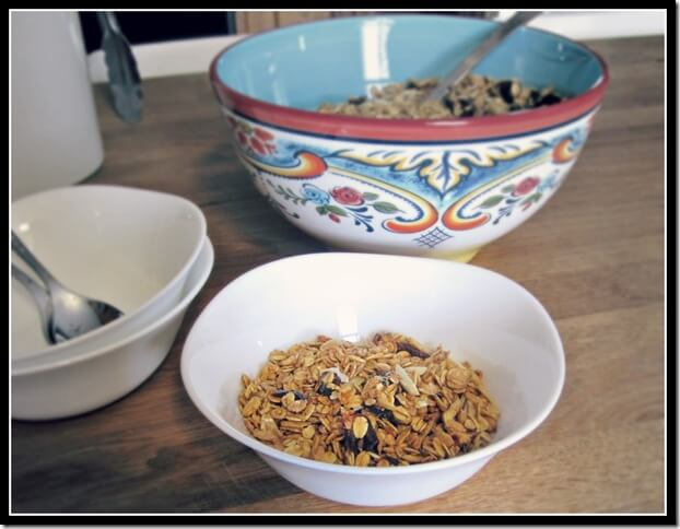 orange and date granola