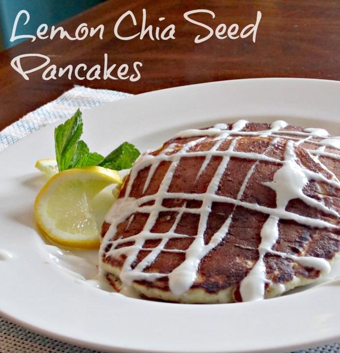 lemon chia seed pancakes - www.infinebalance.com