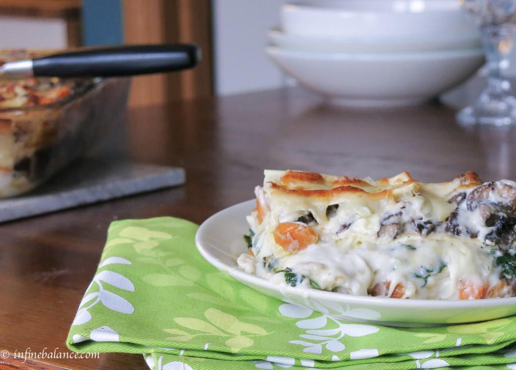sweet potato + portabella lasagna