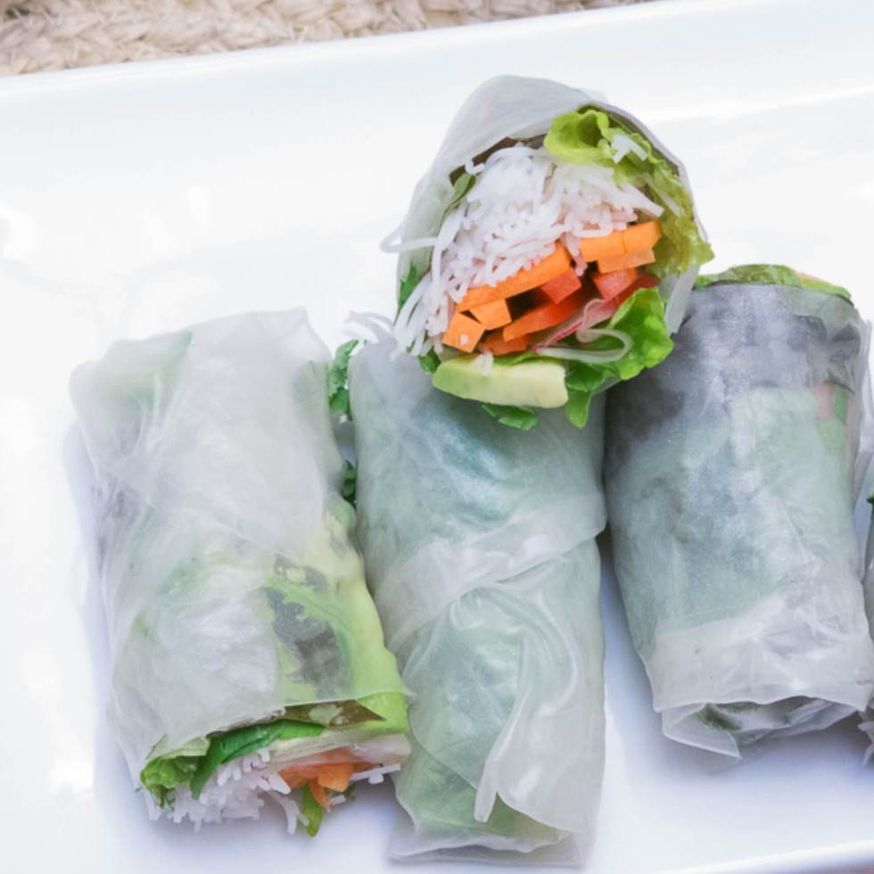 Salad Wraps   www.infinebalance.com #vegan #salad #partyfood