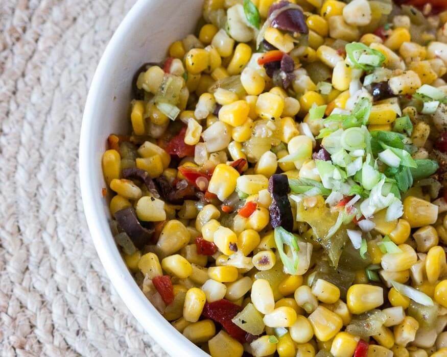Sweet Corn and Green Chili Slaw