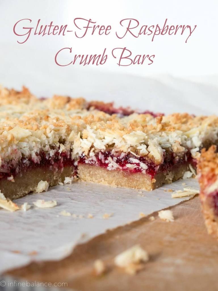 Gluten-Free Raspberry Crumb Bars | www.infinebalance.com #gf #vegan