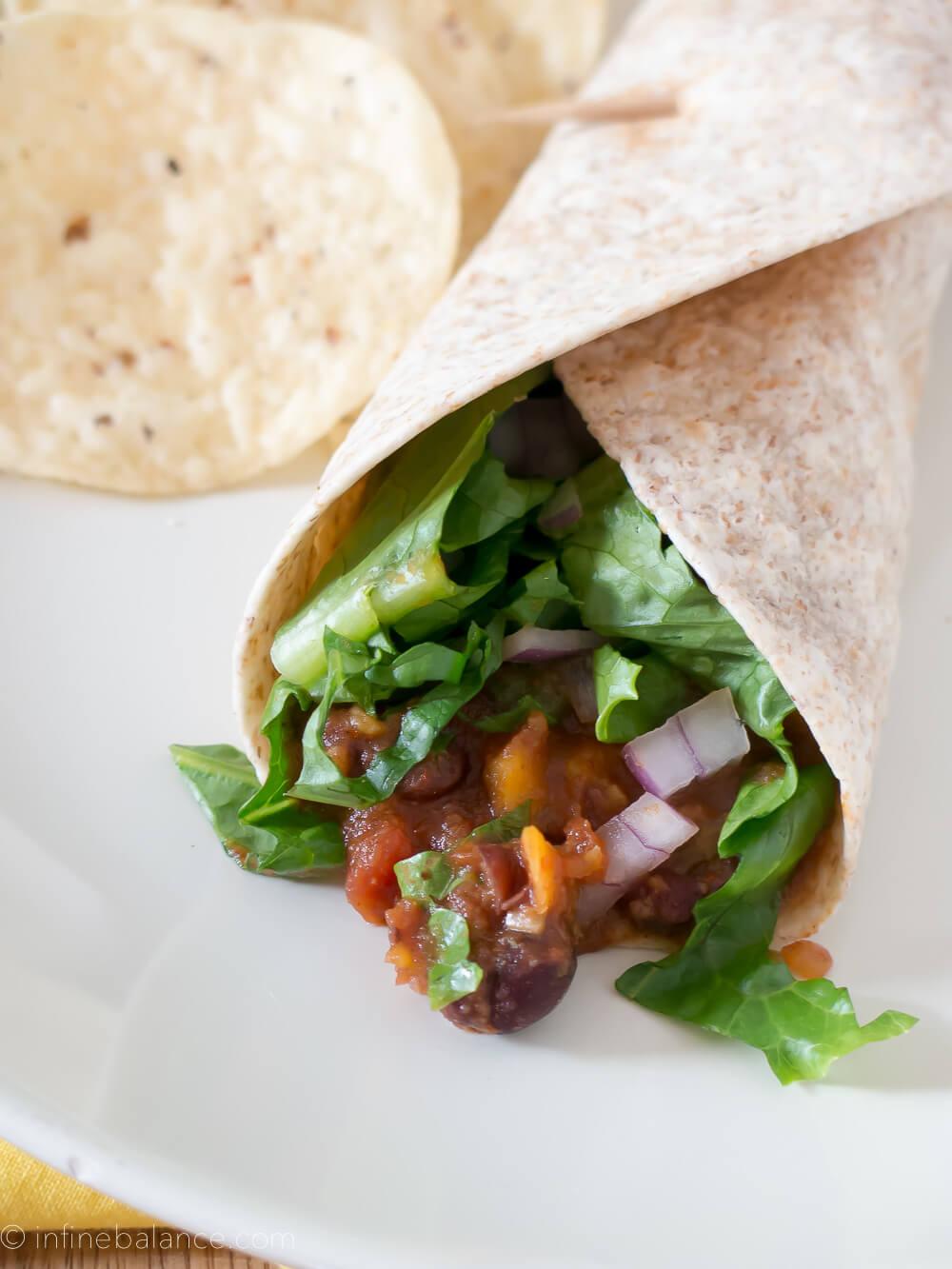 Sweet Potato and Black Bean Tacos | www.infinebalance.com #vegetarian #crockpot #slowcooker