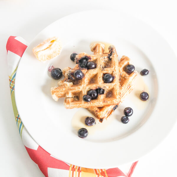Whole Wheat and Blueberry Waffles