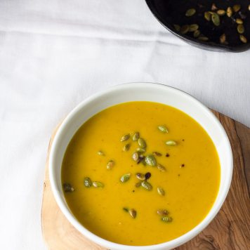 Roasted Butternut Soup with Coconut Milk | www.infinebalance.com