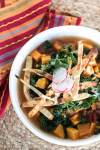 Sweet Potato Tortilla Soup with Kale