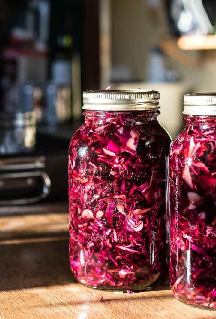 Spiced Pickled Red Cabbage | www.infinebalance.com #recipe #vegetables
