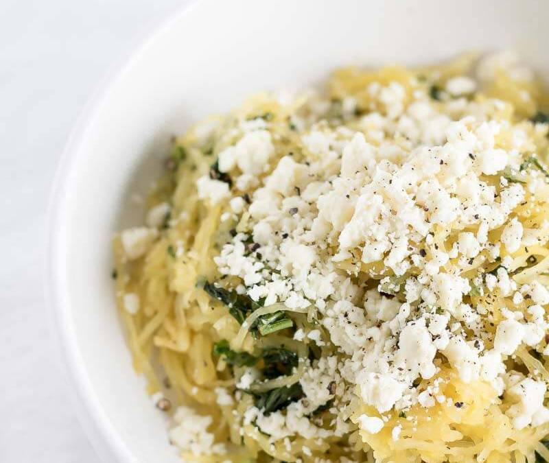 Easy Spaghetti Squash Recipe with Feta and Kale