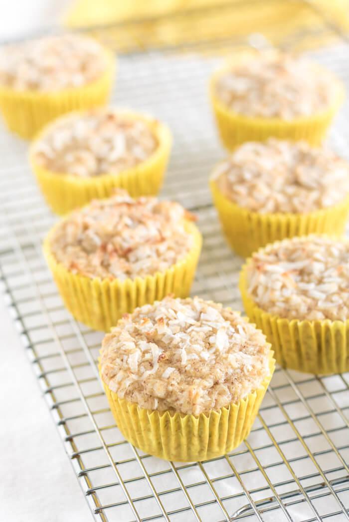 Coconut Pineapple Muffins | www.infinebalance.com #gluten-free #vegan
