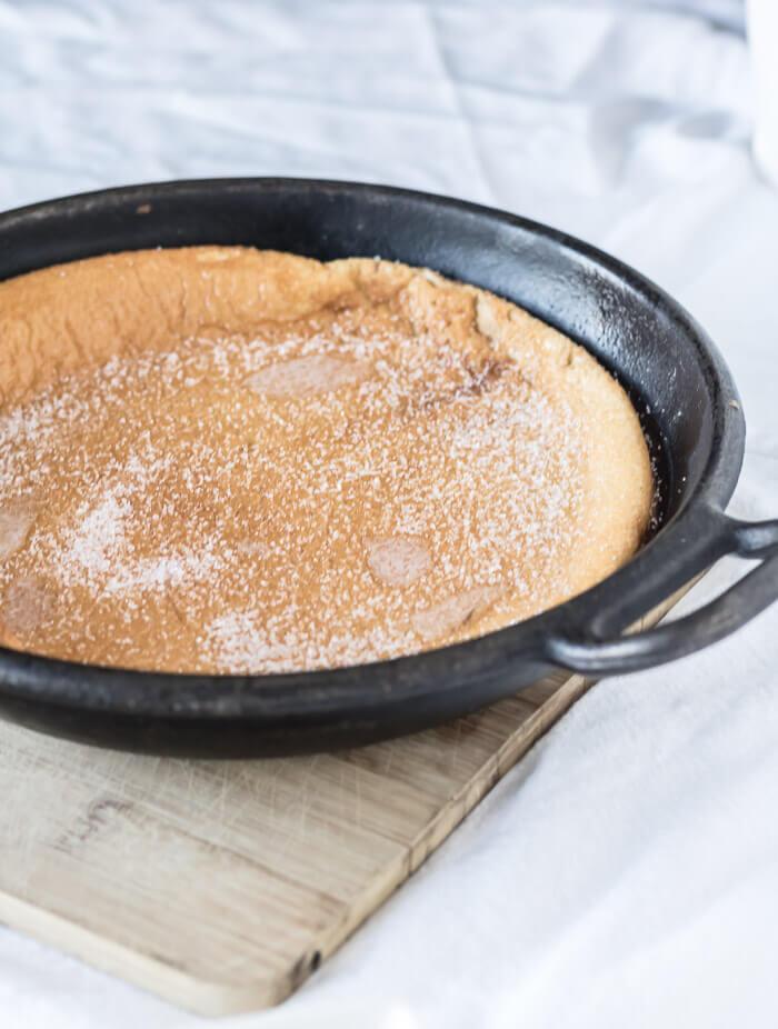 Apricot Dutch Baby Pancake | www.infinebalance.com #recipe #breakfast
