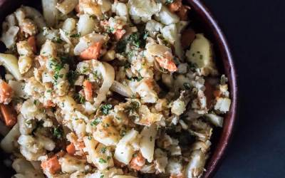 Roasted Turnip and Root Vegetable Mash