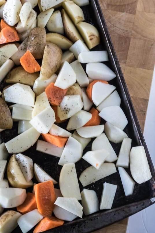 Roasted Turnip and Fall Vegetable Mash   www.infinebalance.com #recipe
