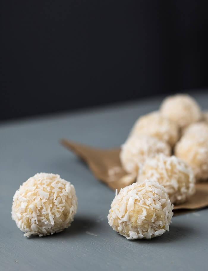 raw lemon pound cake balls