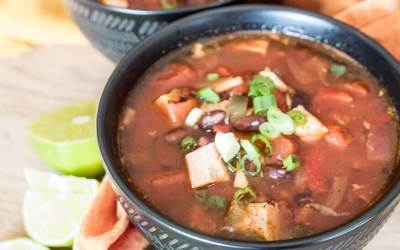 Spicy Turkey Enchilada Soup