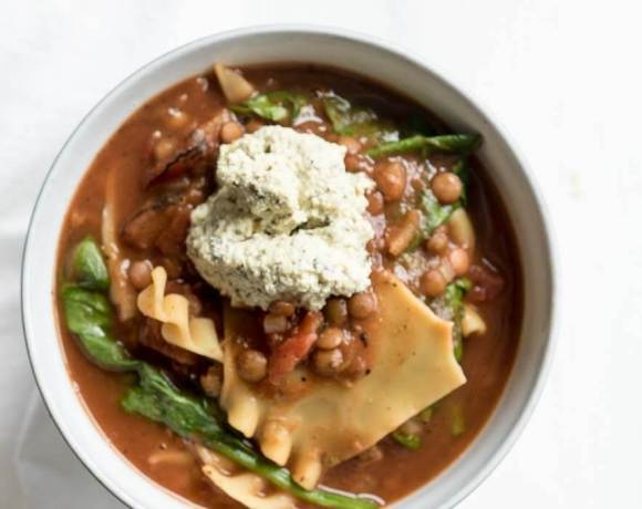 Vegan Lasagna Soup   The infinebalance Food Blog