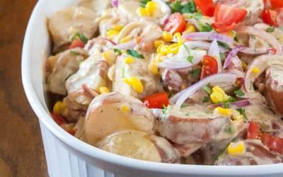 Red Potato Salad with Sweet Corn