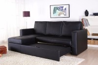 Modern Sectional Sofa Bed with Storage Chaise Couch ...