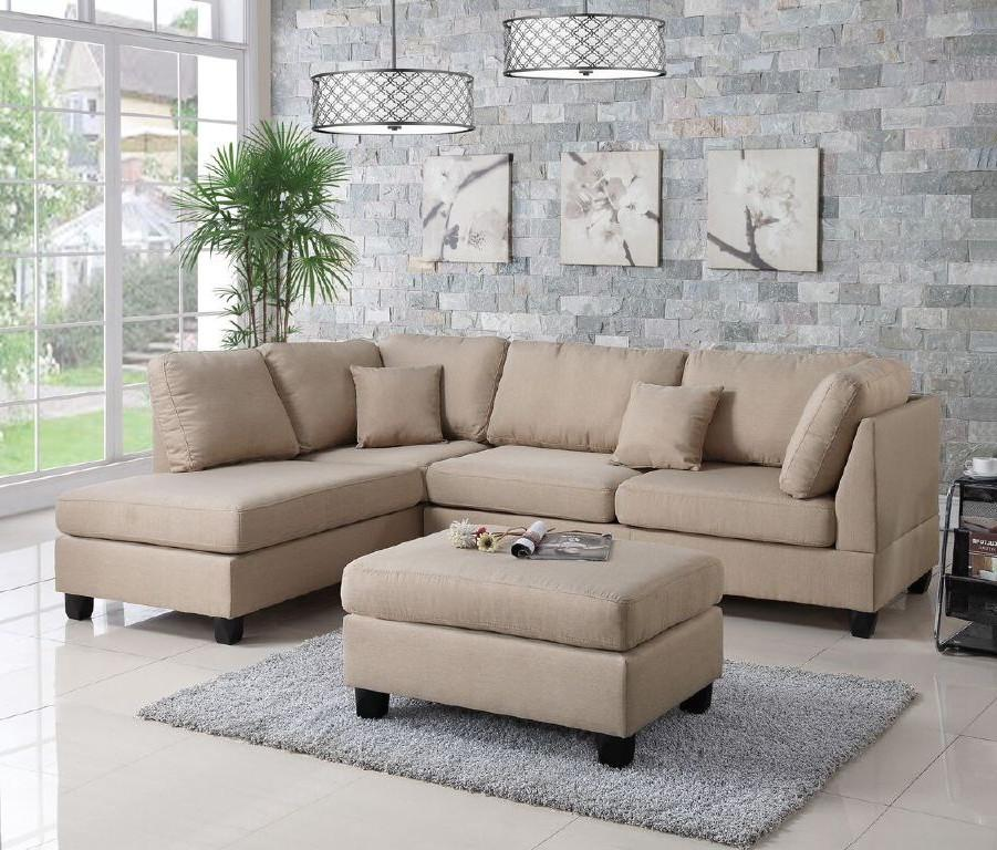 beige sofa set material kenya wayfair ifin1021 amazon poundex f7605 sectional sand and ottoman
