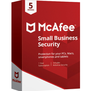 McAfee Small Business Security Por 2 Años Para 5 Pc MFR # IMSE521ITL10