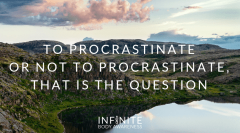 To Procrastinate or Not to Procrastinate, That Is the Question