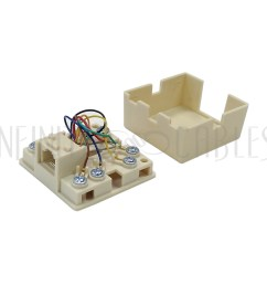 rj31x rj45 surface with 2ft rj45 to spade lug cable [ 1000 x 1000 Pixel ]