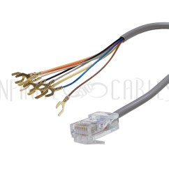 rj31x rj45 surface with 2ft rj45 to spade lug cable infinite cables rh infinitecables com [ 1000 x 1000 Pixel ]