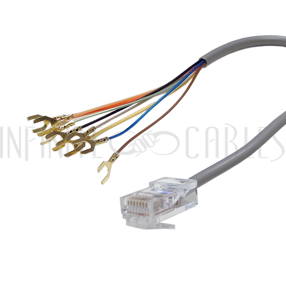 medium resolution of rj31x rj45 surface with 2ft rj45 to spade lug cable infinite cables rh infinitecables com