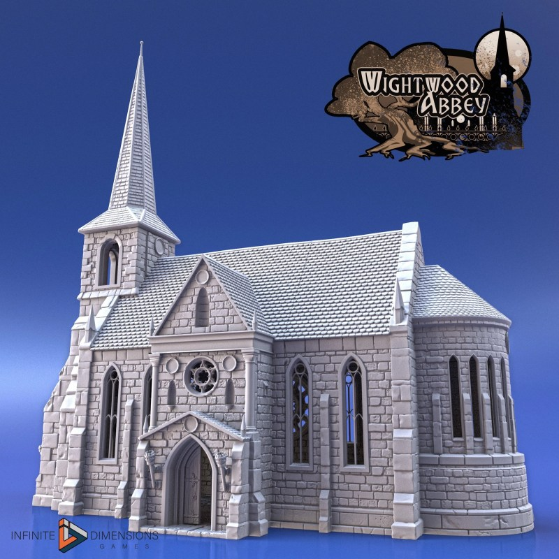 3D printable medieval church