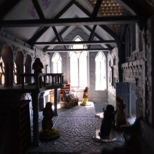 Wightwood Abbey scriptorium interior