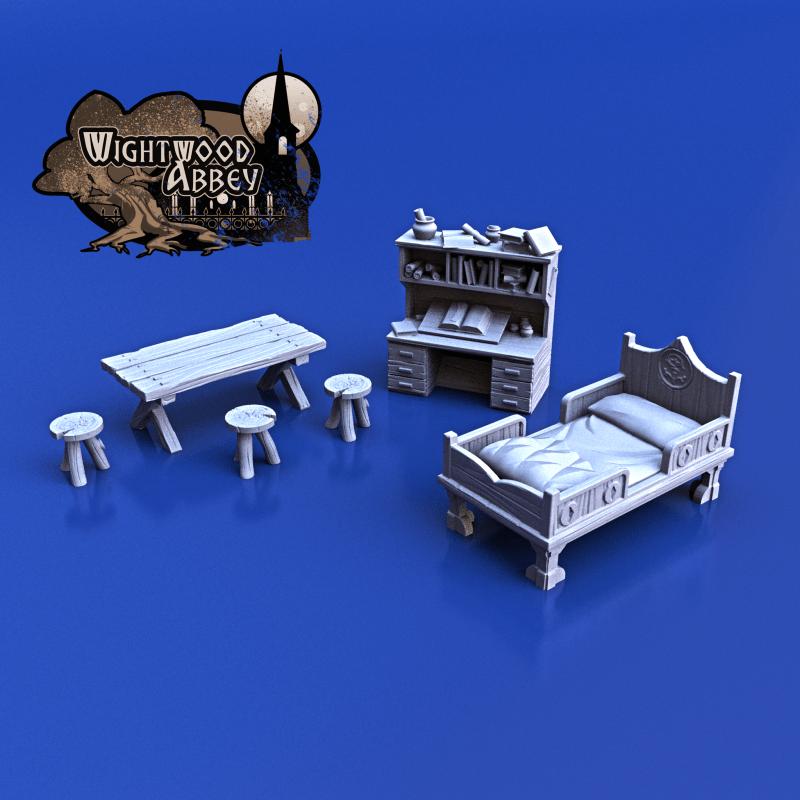 3D printable medieval furniture