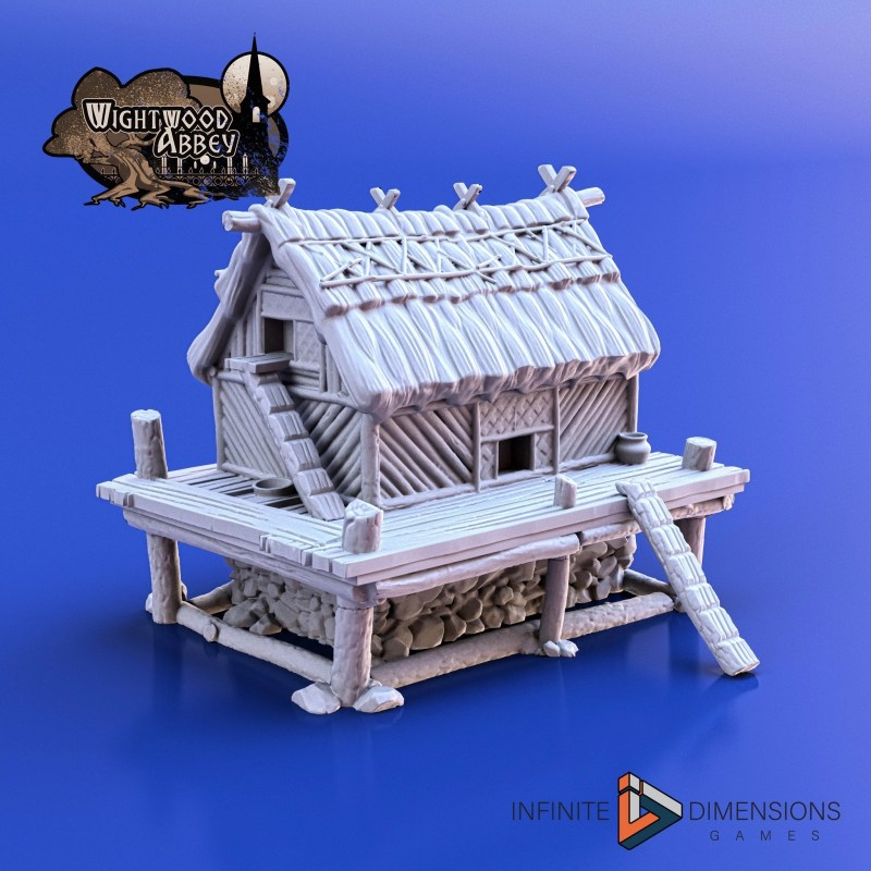 3D printable medieval chicken coop