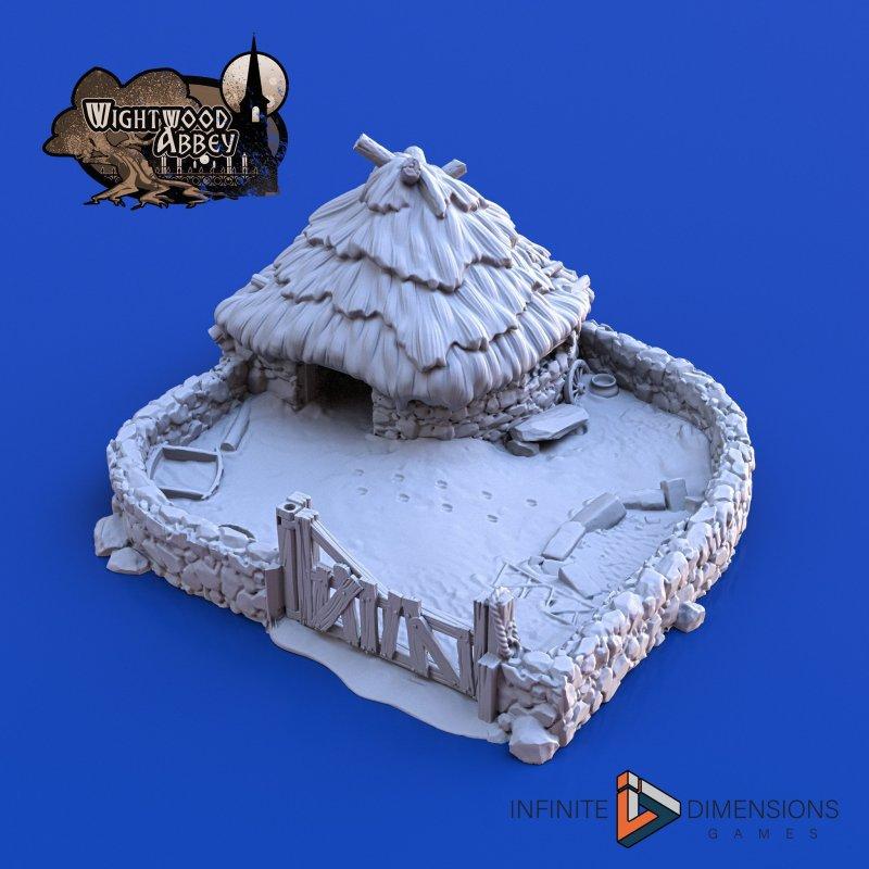 3D printable medieval pig sty