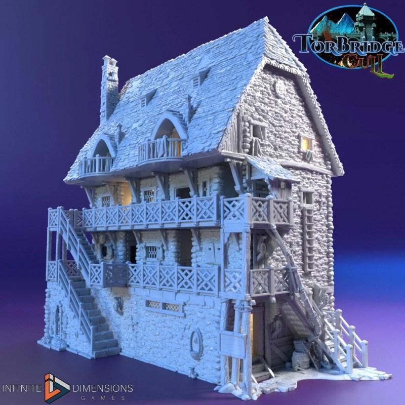 3d printable medieval hotel
