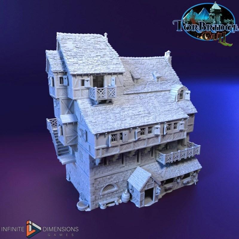 3d printable medieval tavern