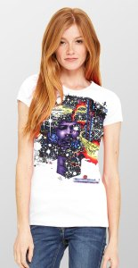 Haze - Women's t-shirt inspired by Jimi Hendrix