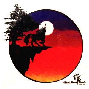Unicorn on a Cliff Sticker