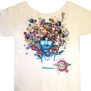 Discount Jim Morrison T-shirt Men's White Tee Door Ways on Sales Rack