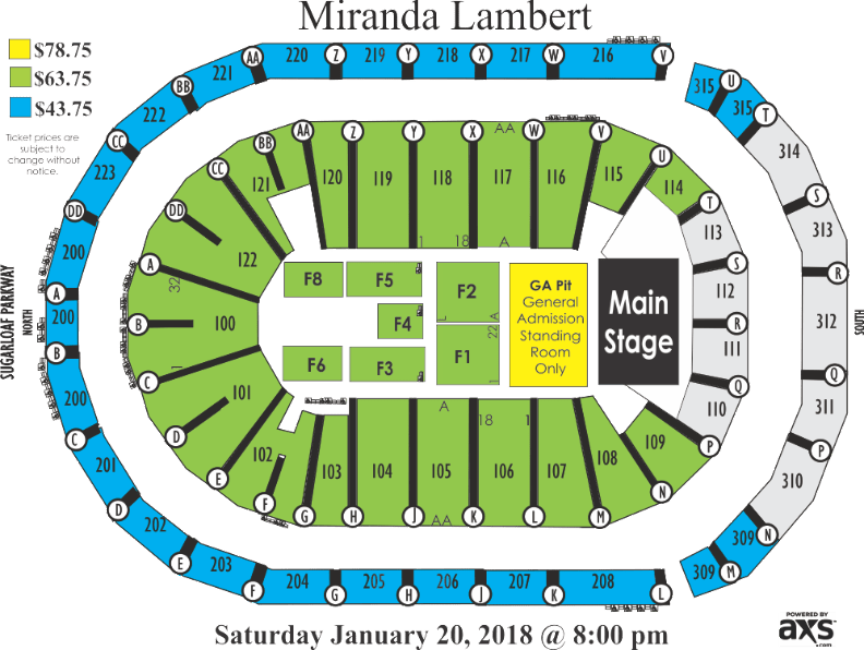 Infinite Energy Center Detailed Seating Chart Elcho Table