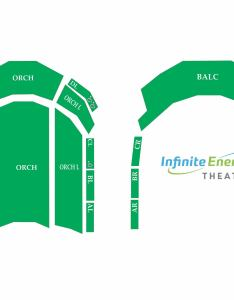 Click here to view  generic seating map of infinite energy theater also center rh infiniteenergycenter