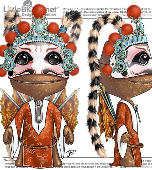 Sackboy 'Chinese Opera' design by jetoaster