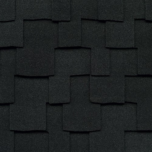 GAF Grand Sequoia shingles in charcoal color