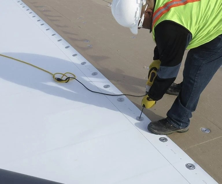 TPO roof replacement example picture