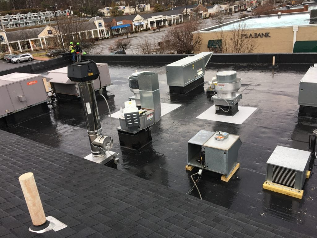 Commercial EPDM Flat Roof