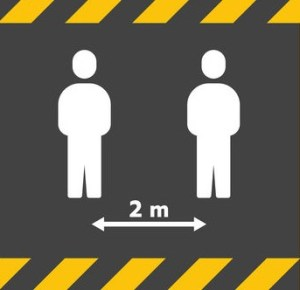 Maintain a 2 Metre Social Distance at Work