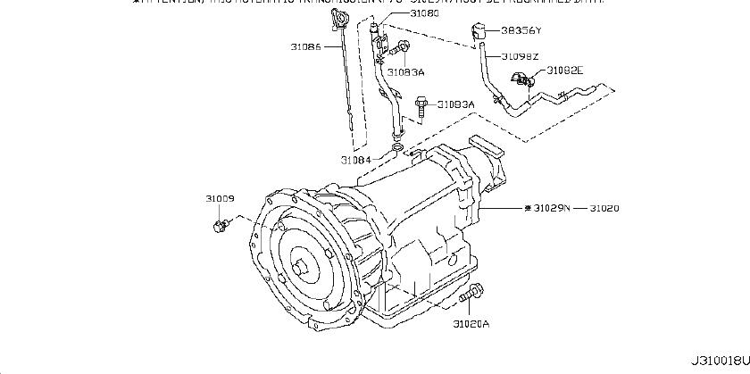 INFINITI EX35 Automatic Transmission With O Programming